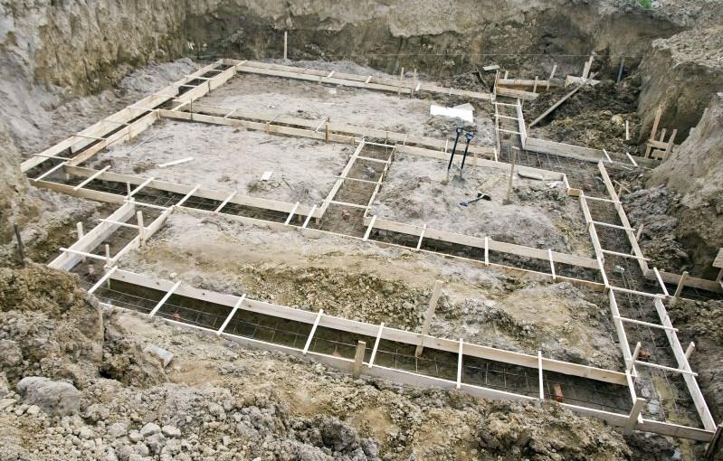 планировка фундамента под строительство дома